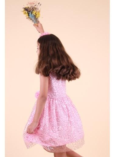 Breeze Kız Çocuk Pullu Elbise Pembe (3-14 Yaş) Pembe